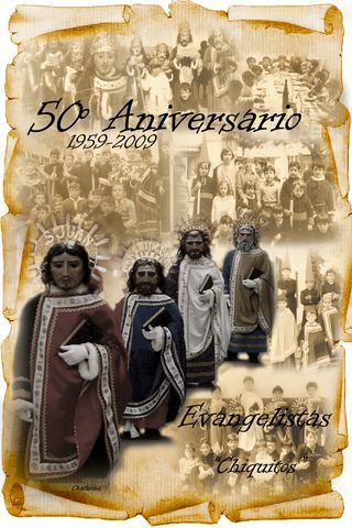 Cartel del 50º Aniversario de Los Evangelistas Chiquitos