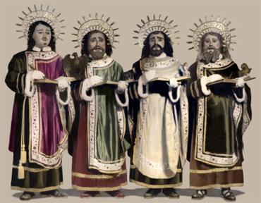 Los Evangelistas: San Juan, San Lucas, San Mateo y San Marcos año 1960-1965