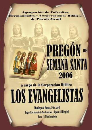 Cartel del Pregon de la Semana Santa de Puente Genil 2006 Los Evangelistas